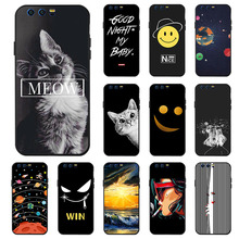 Ojeleye Fashion Black Silicon Case For Huawei Honor 9 Cases Anti-knock Phone Cover For Huawei Honor 9 STF-L09 Covers электрогриль clatronic mg 3519 black inox
