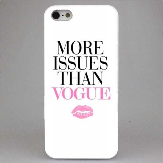 Brand New More Issues than Vogue Poster Style Hard White Cover Skin Back Case for iPhone4 4S 5 5S 5C 6 6s 6 plus Free shipping
