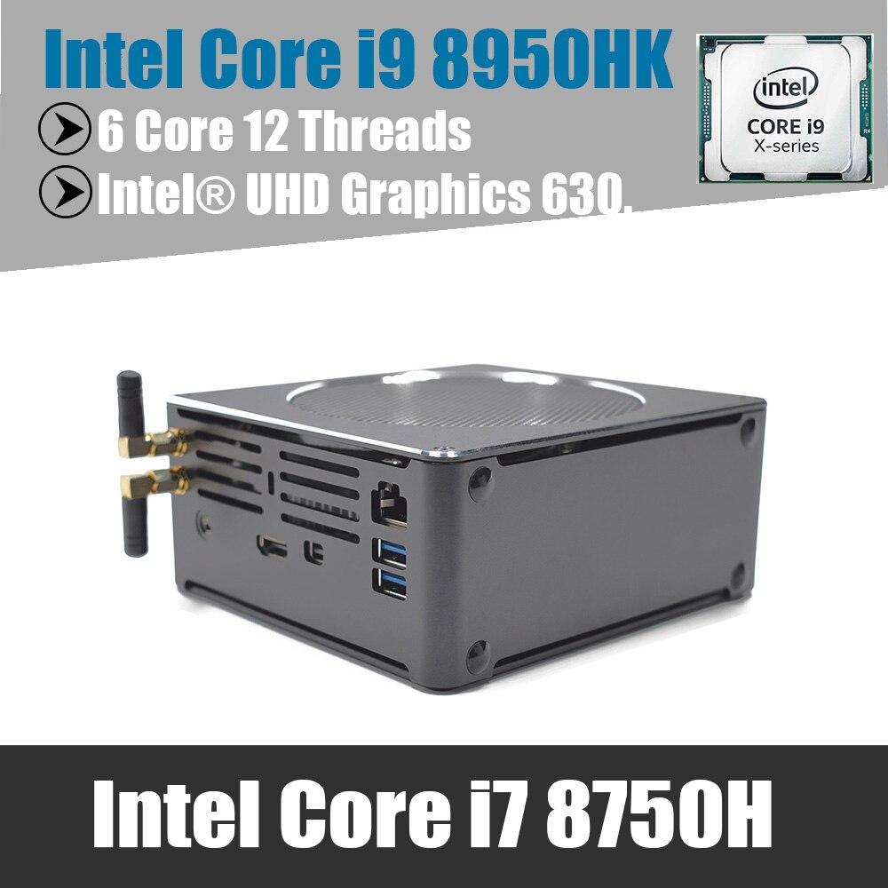 Xeon E 2176M Mini PC Intel i9 8950Hk Windows10 linux DDR4 Ram Core i7 8750H Wifi