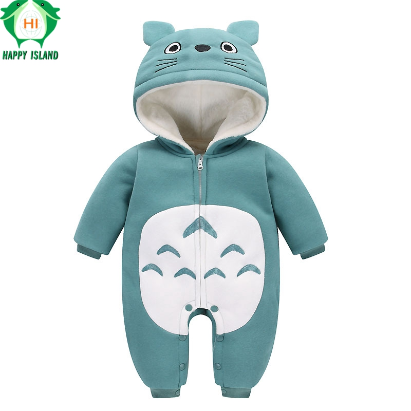 HAPPY ISLAND Spring Autumn Baby Clothes Flannel Baby Boys Clothes Cartoon Animal Cute Jumpsuit Infant Girl Rompers Baby Clothing унитаз подвесной gala 27172