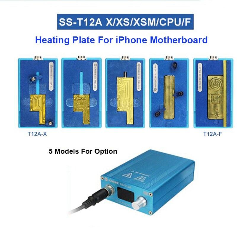 SS-T12A plate-forme de démontage de carte mère pour iPhone X/XS/XS Max CPU IC puces séparant la Table de chauffage de retrait de colle 185 degrés