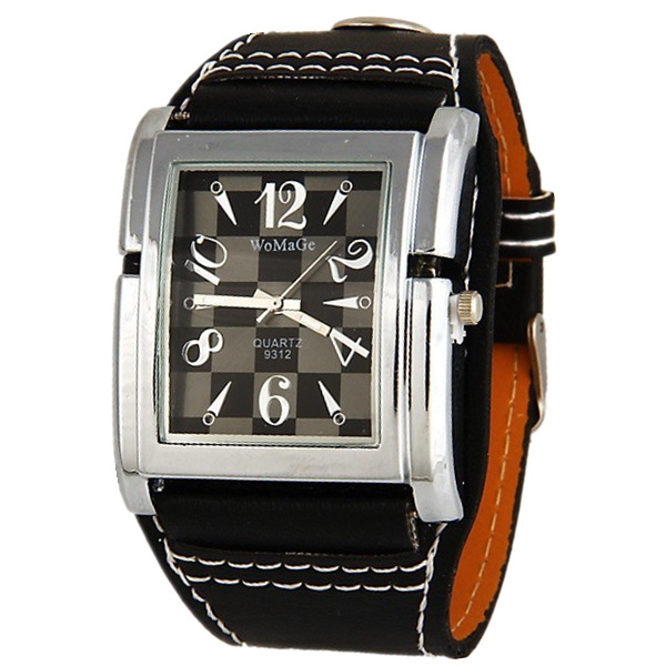 Fashion Brand Wide Leather Women Gift Watch Ladies Quartz Casual Womage Relogio Feminino Square Dial Fashion Sports Wrist Watch