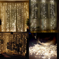 1x4 5x 3m300 LED Icicle String Lights Led Xmas Christmas Lights Fairy Lights Outdoor Home For