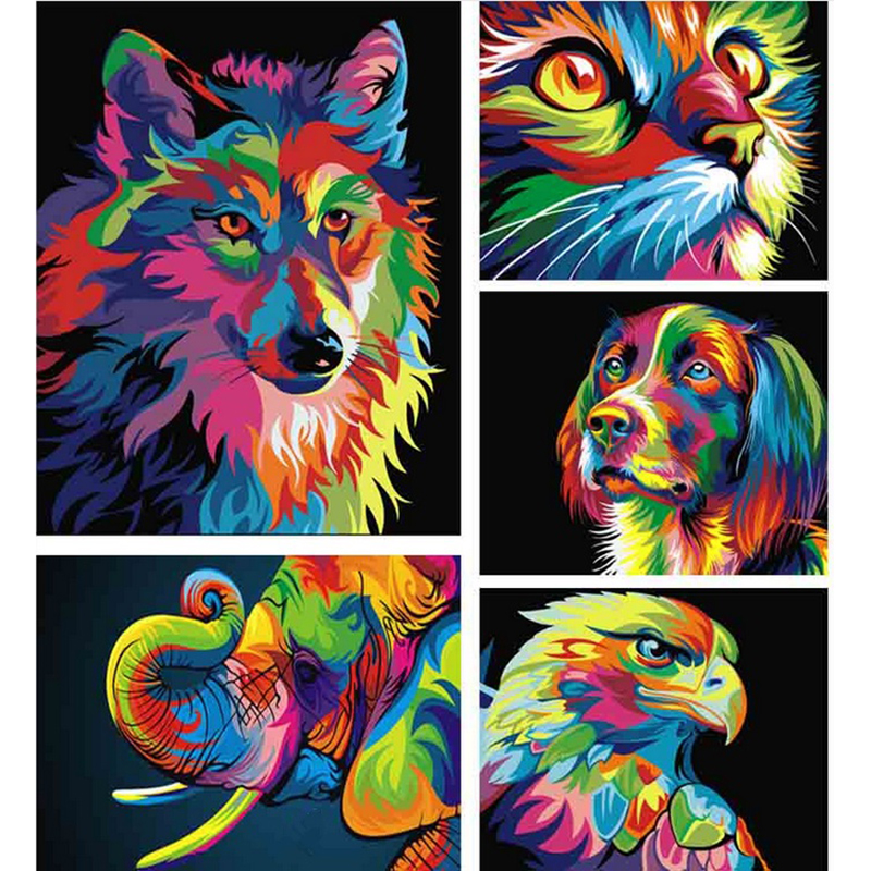 5D Diy Diamond Painting wolf Pattern Cross Stitch Full Diamond Embroidery 3D Diamond Mosaic Rhinestones Needlework JK