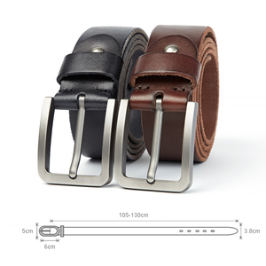 Image 5 - Medyla天然皮革男性ベルト品質素材頑丈なスチールバックル革ベルトのための適切なジーンズカジュアルパンツ