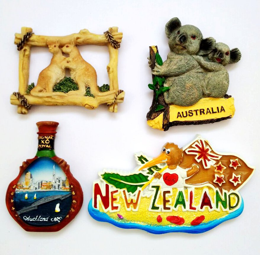 Hot Sale <font><b>New</b></font> <font><b>Zealand</b></font> Tourism <font><b>Souvenirs</b></font> 3D Resin <font><b>Fridge</b></font> <font><b>Magnets</b></font> Home Decoration Refrigerator Magnetic Stickers Gift image