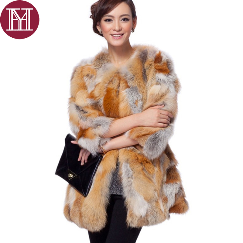 29367c58b04 2017 New fashion Women real red fox fur coat Customized female casual winter  nature fox fur jacket warm brand outerwear
