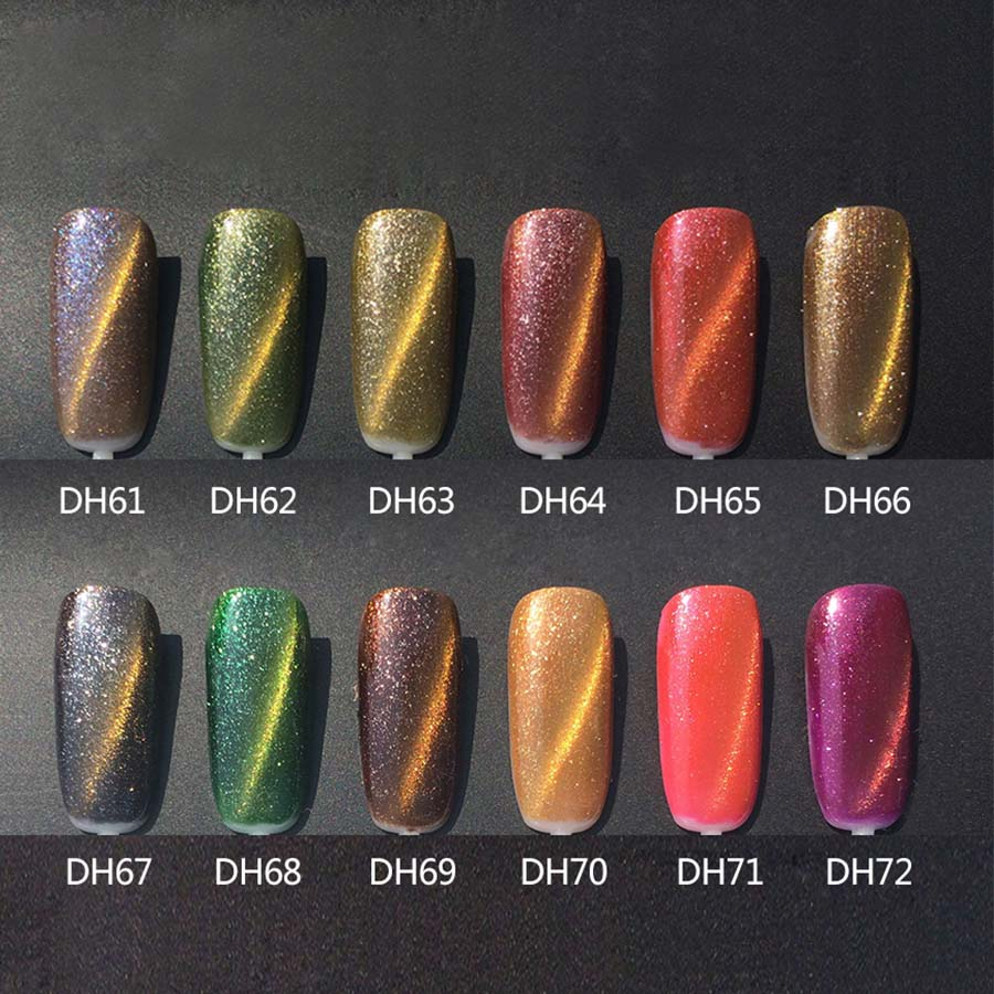MONASI 3D Diamond Cat Eyes Gel Nail Polish UV LED Gel Lacquer ...