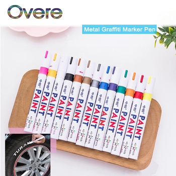 Overe 1PC Car Tyre Tread Paint markers Graffiti Oily Marker Pen For Honda Civic Accord Fit Subaru Impreza Forester XV Nissan image