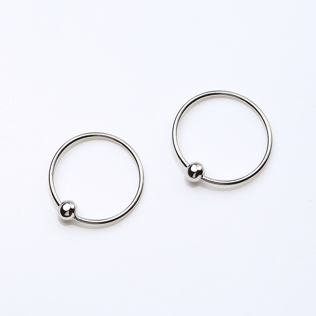 925 Sterling Silver Round Small Hoop Earrings