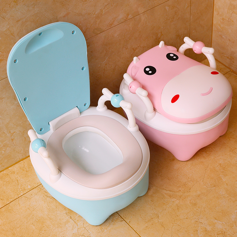 Baby Potty Chair Cute Cartoon Children's Pot WC Plastic Training Boy Girls Child Toilet Seat Portable Child Potty Baby Toilet image