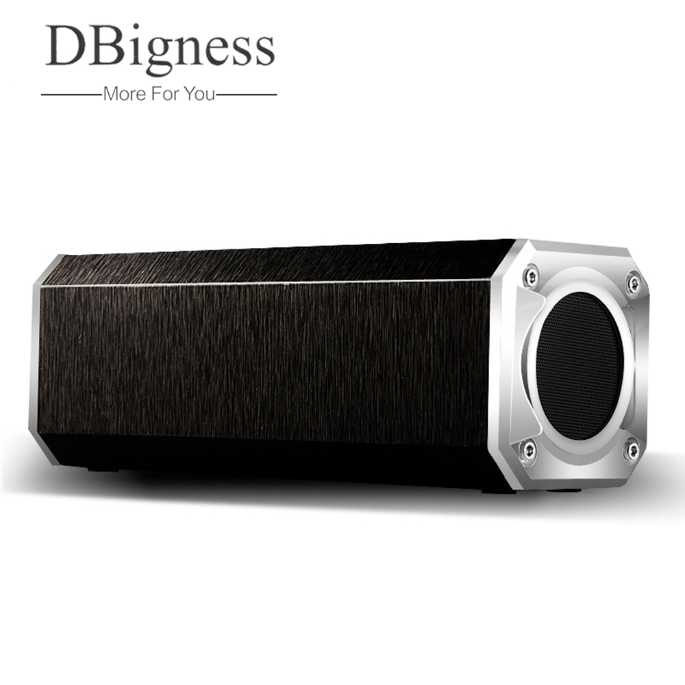 Dbigness Bluetooth 4.0 Speaker Wooden 10W Dual Sound Hi-Fi Stereo Wireless Bluetooth Speaker Hands Free Call Support TF Card AUX