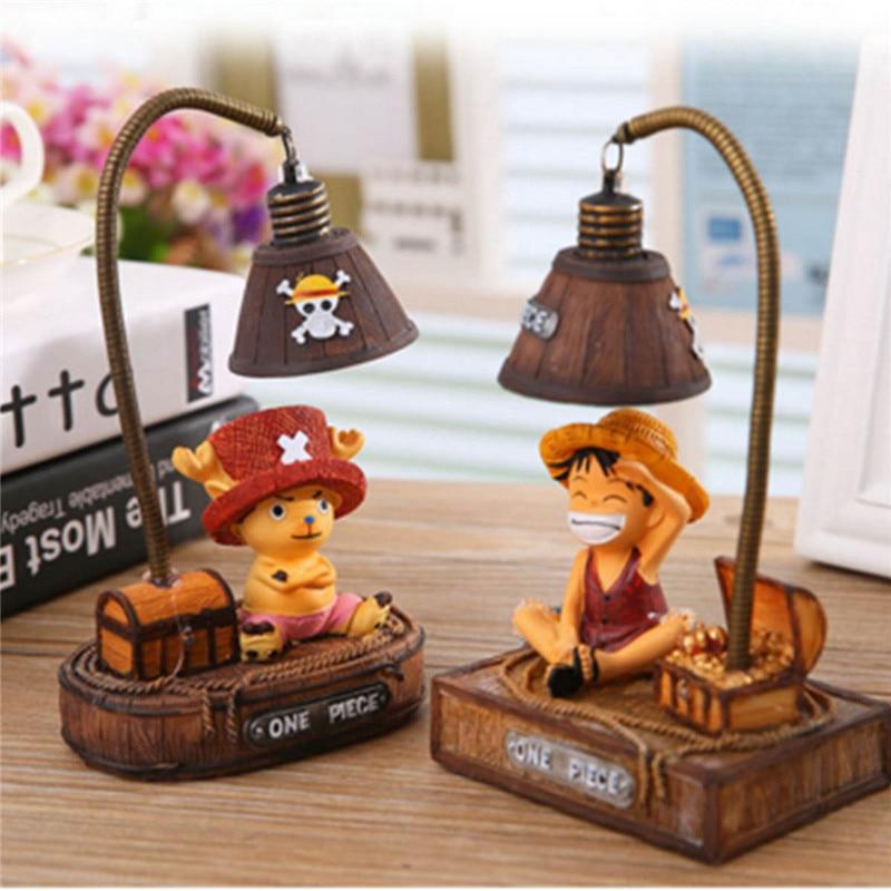2018 DATE nuit lampe Luffy et Joe Japonais Anime Jouets Résine Artisanat D'épicerie Lampe Nuit Lumière