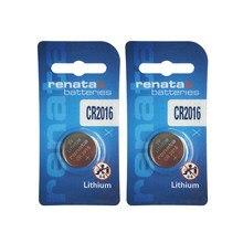 Оригинальный Renata 2 шт. CR2016 3V литиевая батарея DL2016 LM2016 BR2016 батареи для часов