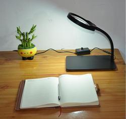 5X 8X 10X w nowym stylu oświetlony lupa blat biurka LED lampka do czytania duży obiektyw szkło powiększające regulowany światła hurtowni w Lupy od Narzędzia na