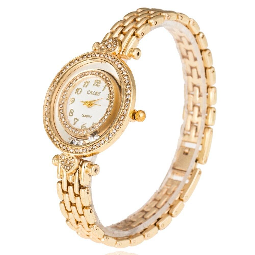 2019 New Fashion Women Watches Full rhinestone Bracelet round Women Dress Watches Luxury Famous Brand Rhinestone Watches