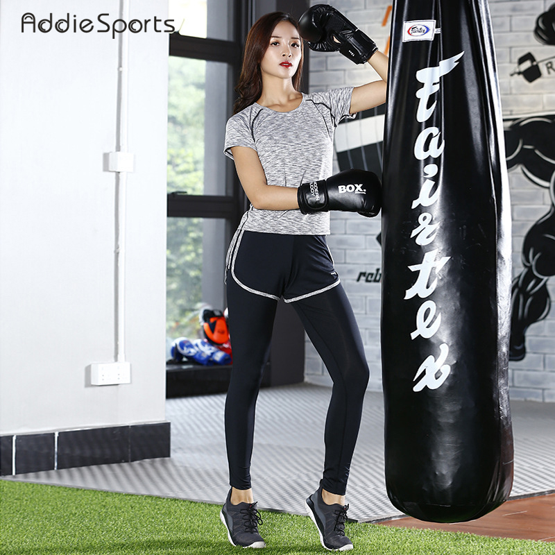Autumn Sports Yoga suit Running suit Fitness clothing Short sleeves Running pants Sports bra 3 pieces of suit Y18007 new winter yoga suit five piece female ms breathable coat of cultivate one s morality pants sports suits running fitness