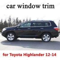 Toyota highlander 2012 2013 2014 스테인레스 스틸 장식 스트립 용 자동차 외장 액세서리 창 트림