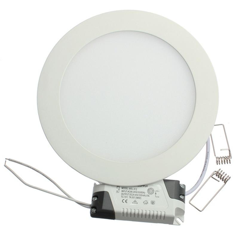 1pcs/lot Dimmable Ultra Thin 3W/4W/ 6W / 9W / 12W /15W/ 25W LED Ceiling Recessed Grid Downlight / Slim Round/Square Panel Light
