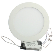 1 יח'\חבילה Dimmable Ultra דק 3 w/4 w/6 w/9 w/12 w/ 15 w/25 w LED תקרה שקוע רשת Downlight/Slim עגול/כיכר פנל אור(China)