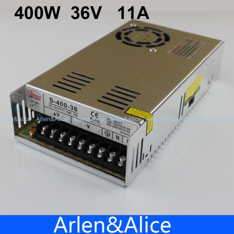 400W 36V 11A Single Output Switching power supply for CCTV camera LED Strip light AC to DC SMPS