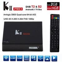 DVB S2 DVB T2 KII Pro TV Box Android 5.1 Amlogic S905 Quad core 2GB+16GB 2.4G &5G WiFi Bluetooth 4.0 HDMI 4K Smart Media Player