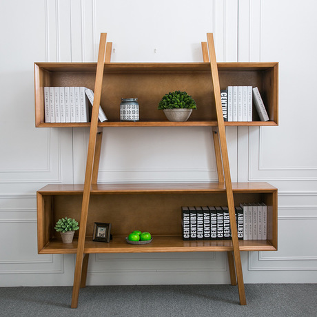 Bookcases Living Room Furniture Home Furniture Solid Wood Bookshelf  Creative Rectangular Shelf Office Display Rack 120*46*180cm  In Bookcases  From Furniture ...