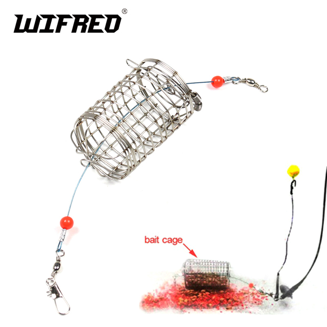 New 5pcs Stainless Steel Bait Cage for Catfish Fishing Net Carp Fishing Lure 10g reusable replace for Sinker Weight Hair Jig