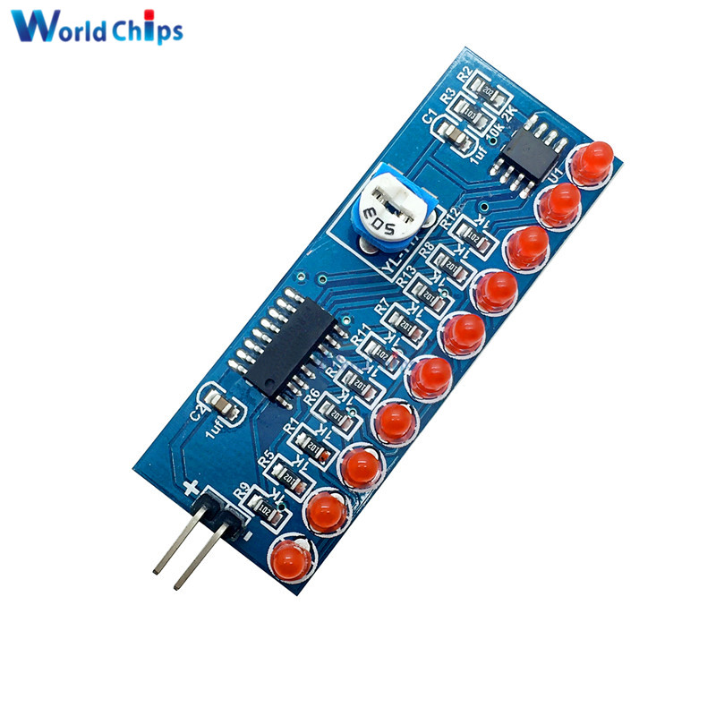 Integrated Circuits Greatzt Ne555+cd4017 Running Led Flow Led Light Electronic Production Suite Diy Kit Sale Overall Discount 50-70% Active Components