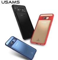 USAMS Marque Mant Série Cas Pour Samsung Galaxy S8 Plus/Galaxy S8 Forte Protection Couverture TPU + Clair Acrylique PC Retour cas