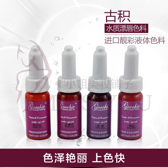 Goochie permanente Goochie maquiagem produtos importados autêntica Coreano do pigmento da cor do tatuagem lábio leite semi permanente