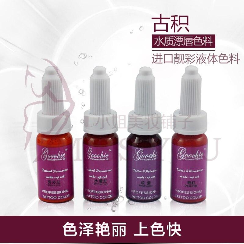 ФОТО goochie permanent makeup Goochie products imported pigment color lip tattoo milk authentic Korean semi permanent