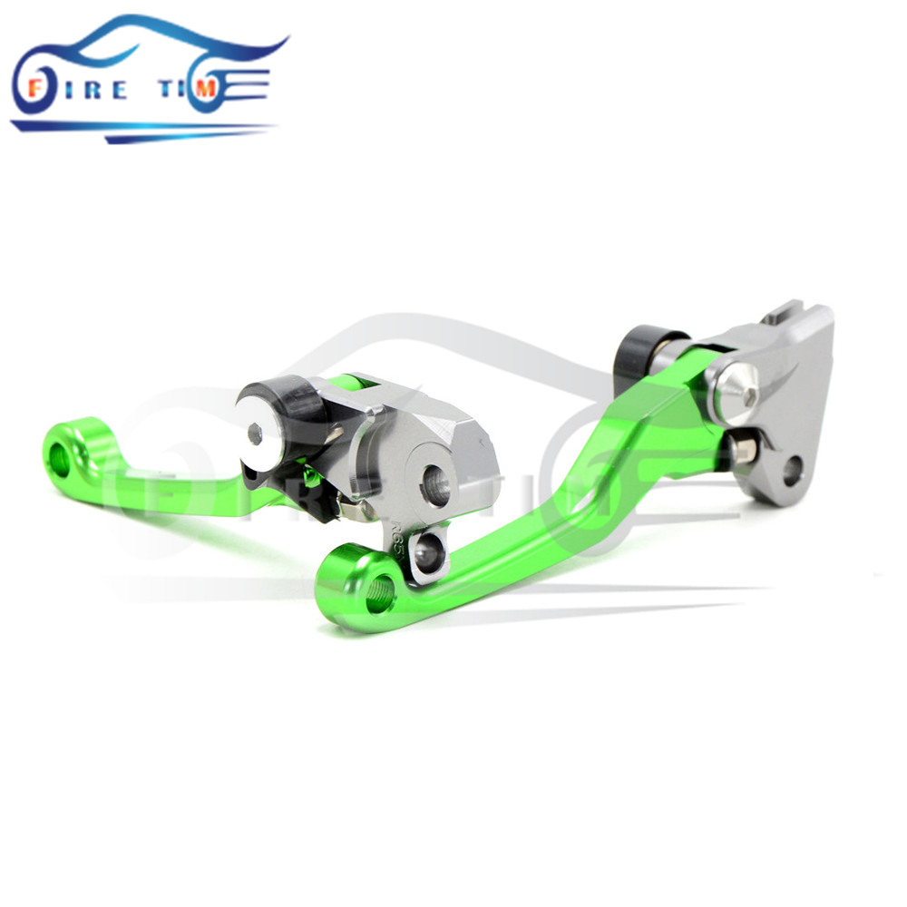 Dirt Bike Motocross CNC Pivot Brake Clutch Levers Green Suzuki DRZ400SM DRZ 400SM DRZ400 SM 00-05 06 07 08 09 10 11 12 13 - FIRE TIME MOTOR STORE store