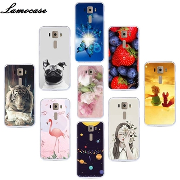 Lamocase Fruit Patterned Phone Case For Asus Zenfone 3 ZE520KL ZE 520KL ZE 520 KL Z017D 5.2 Cute Dogs Cat Back Case Covers image