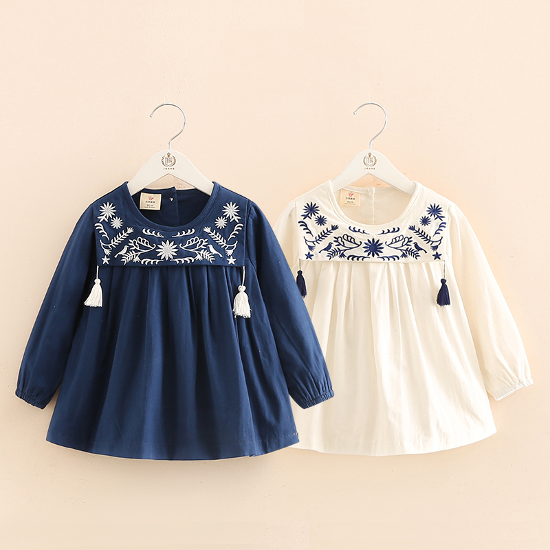 Baby girl embroidery cute shirt spring children s