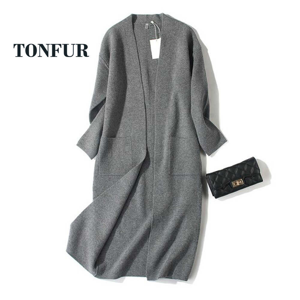 Formal Fitted Open Stitch Women New Arrival Sweaters Real Cashmere Blend Cardigans for Spring Autumn TSR197