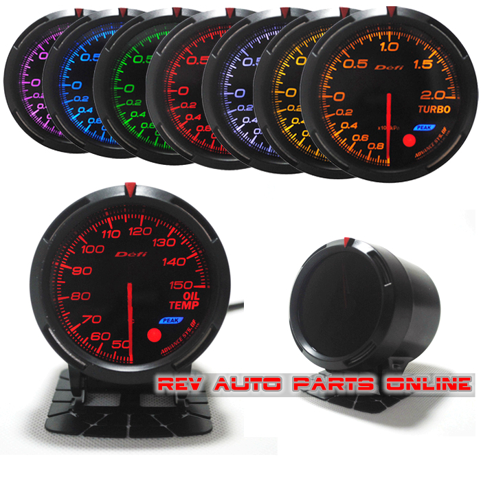 7 colors in 1 60mm racing defi bf link auto gauge oil temp temperature meter gauge in atv parts. Black Bedroom Furniture Sets. Home Design Ideas
