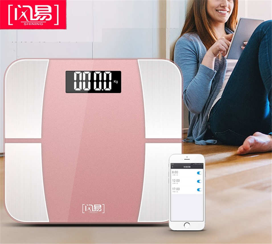 NEW Bluetooth scales floor Body Weight Bathroom Scale Smart Backlit Display Scale Body Weight Body Fat Water Muscle Mass BMI цена и фото
