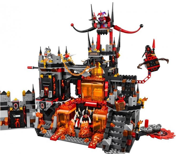 Image 3 - Compatible with Legoing 70323 Nexion knights  1237Pcs Jestro Volcano Lair Figure building blocks bricks toys for children-in Blocks from Toys & Hobbies
