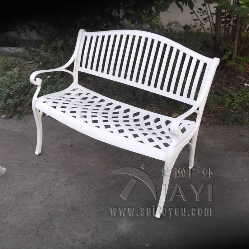 2 person cast aluminum good quality luxury durable park bench garden chair for outdoor luxury aluminum watch