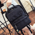 2016 new summer wind School Backpack fashion canvas bag  simple style leisure bag for middle school students free shipping solid