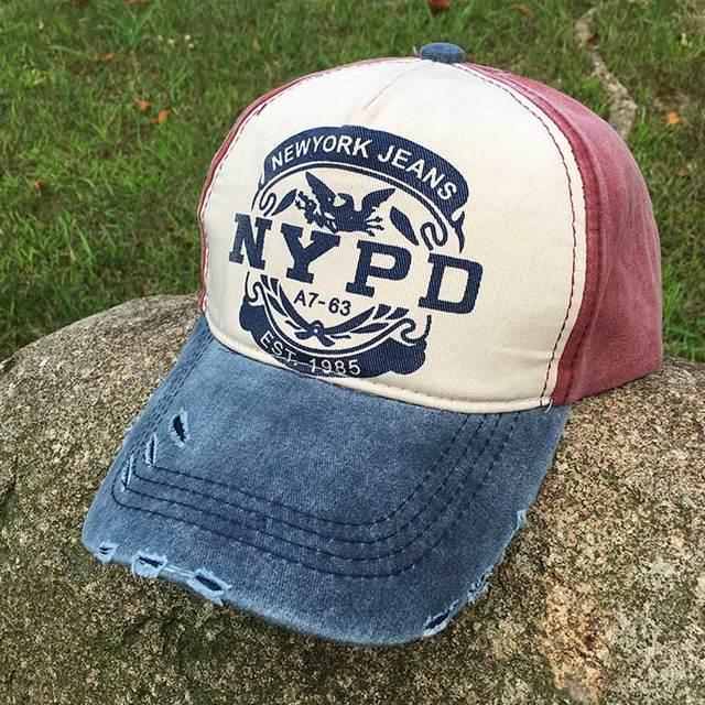 baseball cap women cap men Snapback Letter printed dad hat cap Strapback  Vintage NYPD baseball caps 5 panel 98a06e7321aa