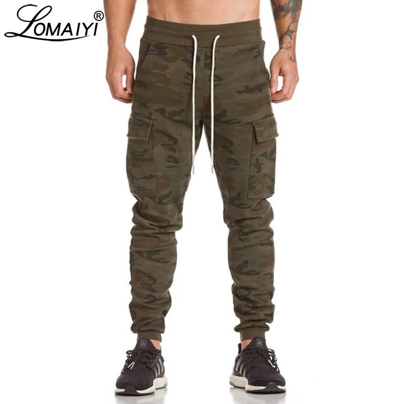 LOMAIYI Stretch Sweatpants Men Camo Joggers Pants Men's Trousers Camouflage Jogger Track Pants Mens Sweat Pants Pockets BM311