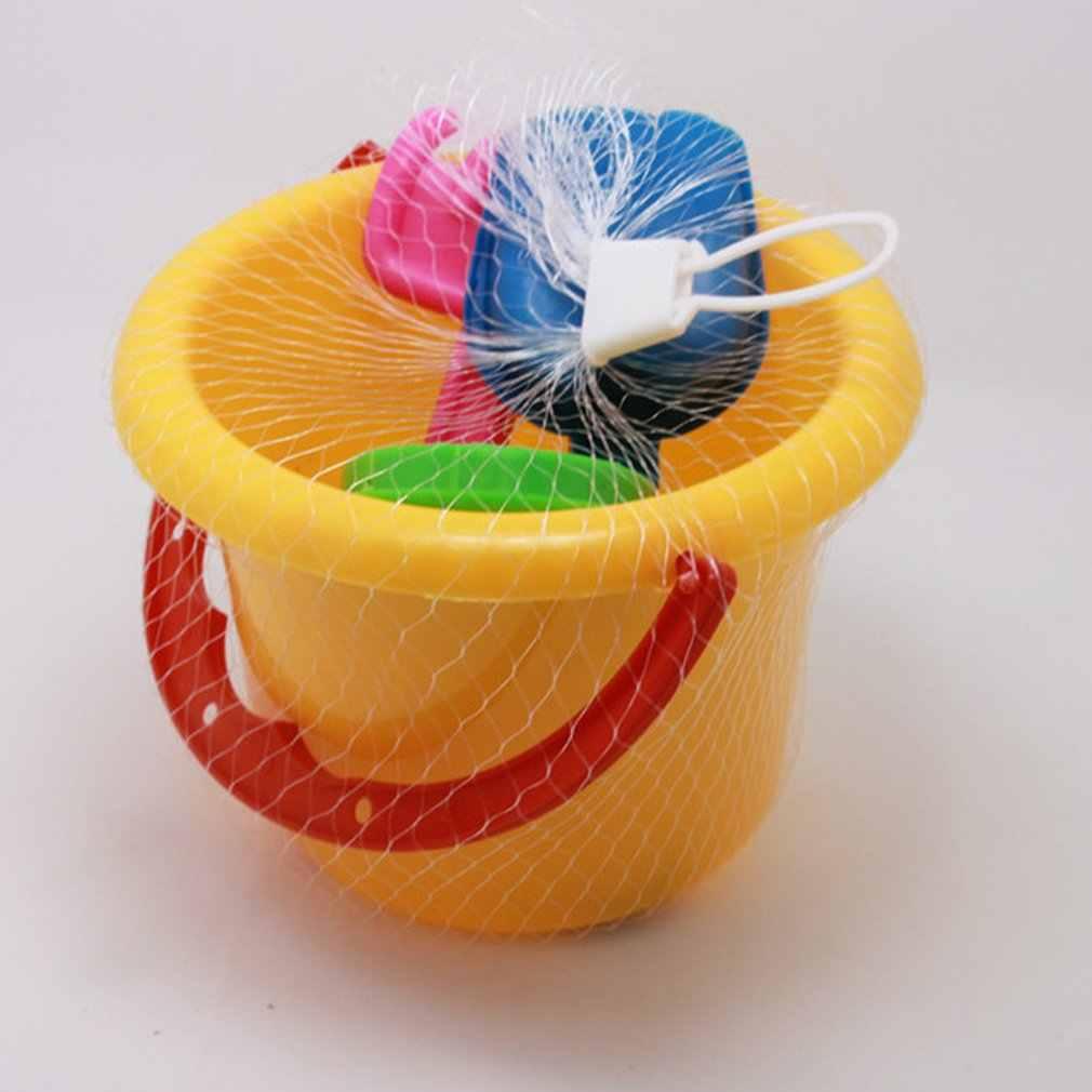 4pcs ใหม่ Mini ชุดของเล่นชายหาดทรายถังถัง Shovel Rake ฤดูร้อนชายหาดทรายเล่นของขวัญของเล่นสำหรับเด็ก