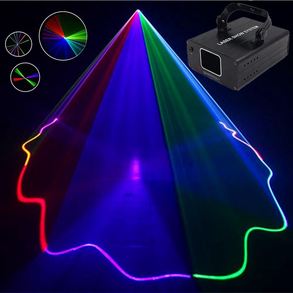 RGB DMX Laser Line Scanner Stage Lighting Beam Effect Projector Light  Professional DJ Dance Bar Xmas Party Disco Show Lights