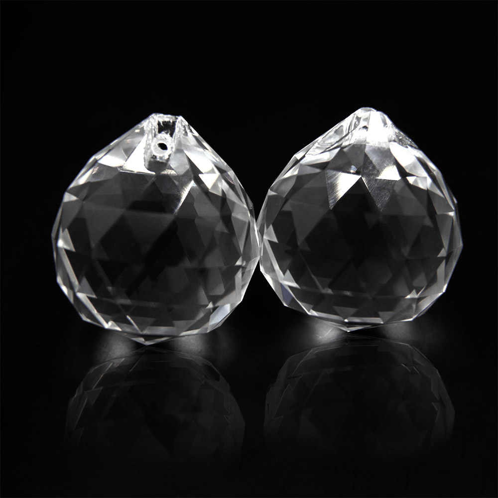 50 Mm/60 Mm/70 Mm 1 Pc Crystal Clear Glas Bal Facet Staren Bal Kristallen Bol Prisma opknoping Suncatcher Thuis Bruiloft Decor