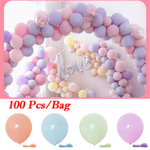 Faroot Pack of 100 Macaron Candy Colored Party Balloons Pastel Latex 10 Inch Birthday Wedding
