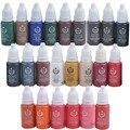 23 Cores de Tinta De Tatuagem Conjunto Pigmento BioTouch Pigmento Maquiagem Permanente 15 ml de uma Garrafa para o Bordado Sobrancelha Tatuagem Pigmento Maquiagem