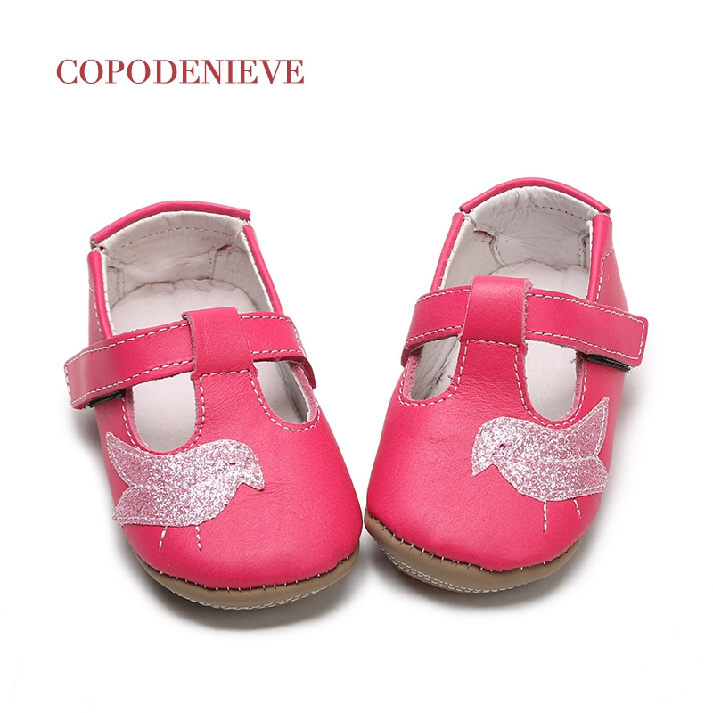 COPODENIEVE Primavera sapatos de bebê toddler sapatos de bebê estilo pássaro reunindo camurça sapatos de couro