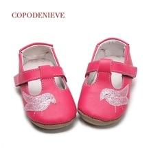 COPODENIEVE Forår baby toddler sko baby fugl stil sko skindeskind flocking lædersko